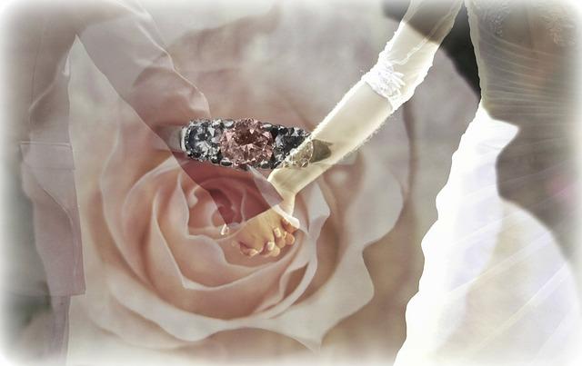 ruce, růže, prsten