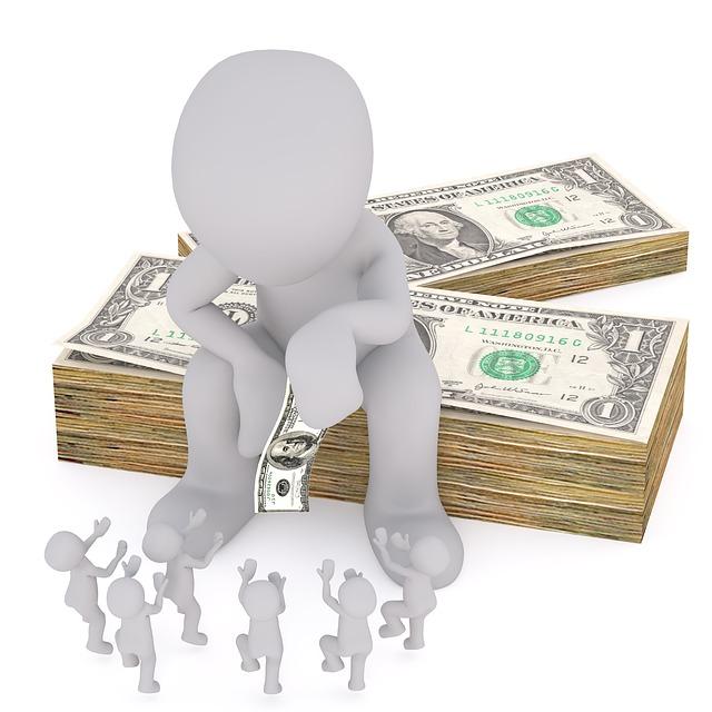 rozdávání peněz