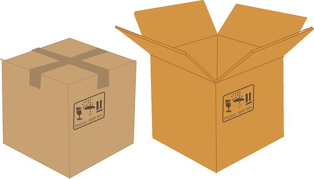 dvě papírové krabice